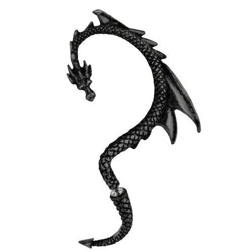 Dragon Ear Cuff black tone