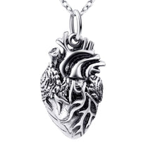 Anatomical Heart Necklace made of 925 Sterling Silver
