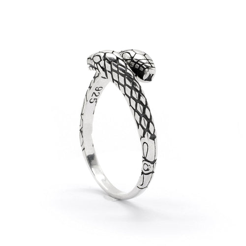 Double Headed Snake Ring 925 Sterling Silver