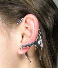 Dragon Ear Cuff inspired by Game of Thrones in Black-Tone Alloy