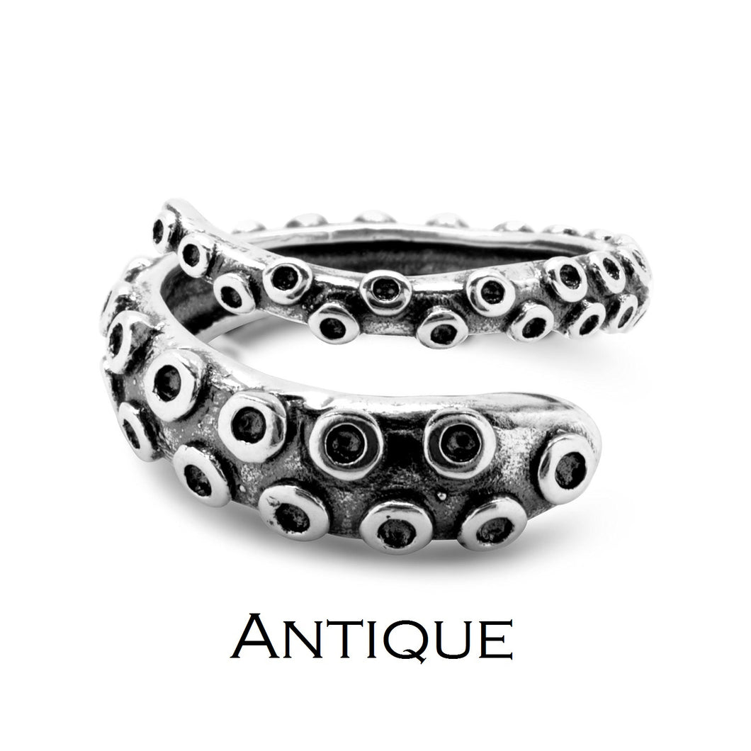 Octopus Tentacle Ring inspired by 'Call of Cthulhu' made of 925 sterling silver