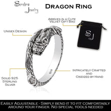 Dragon Ring made of 925 sterling silver