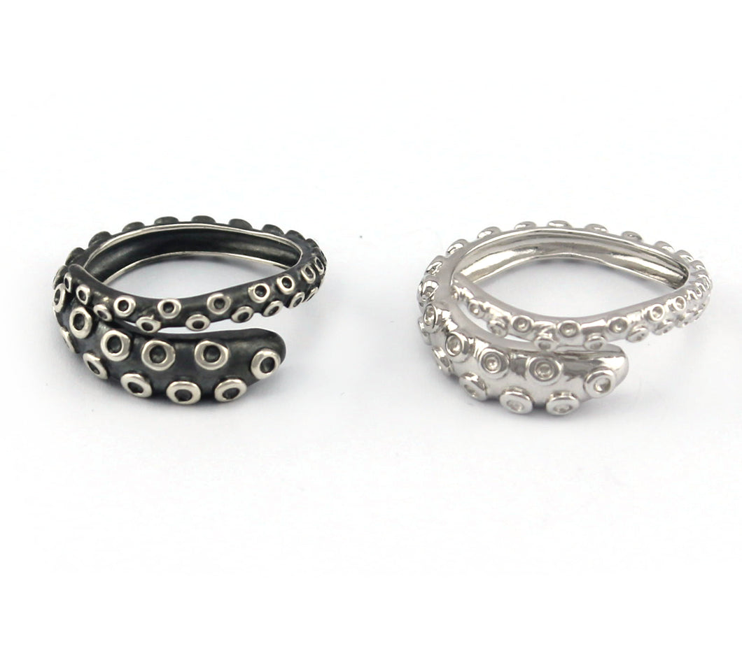 Octopus Tentacle Rings Gift Set made by Lord Cthulhu himself 925 Sterling Silver