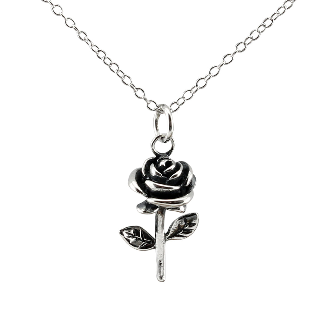 Rose Flower Necklace made of authentic 925 Sterling Silver