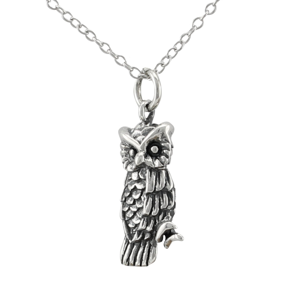 Owl Necklace made of authentic 925 Sterling Silver