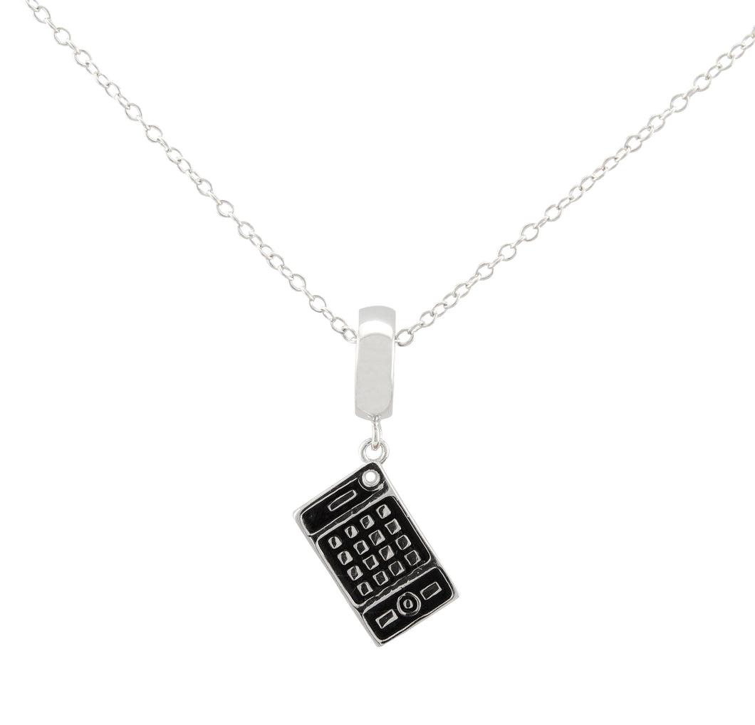 Calculator Necklace made of 925 sterling silver
