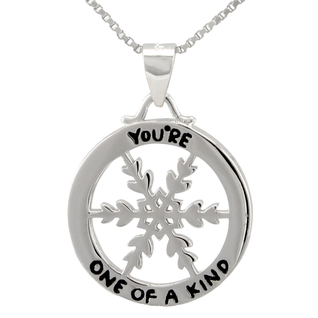 Snowflake Necklace made of authentic 925 Sterling Silver