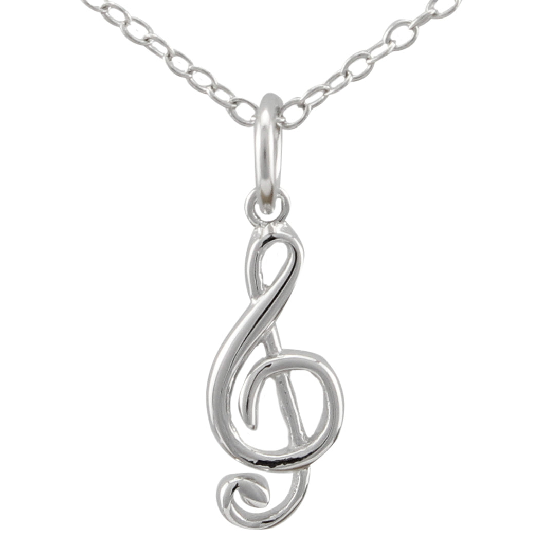 Violin Clef Necklace made of authentic 925 Sterling Silver