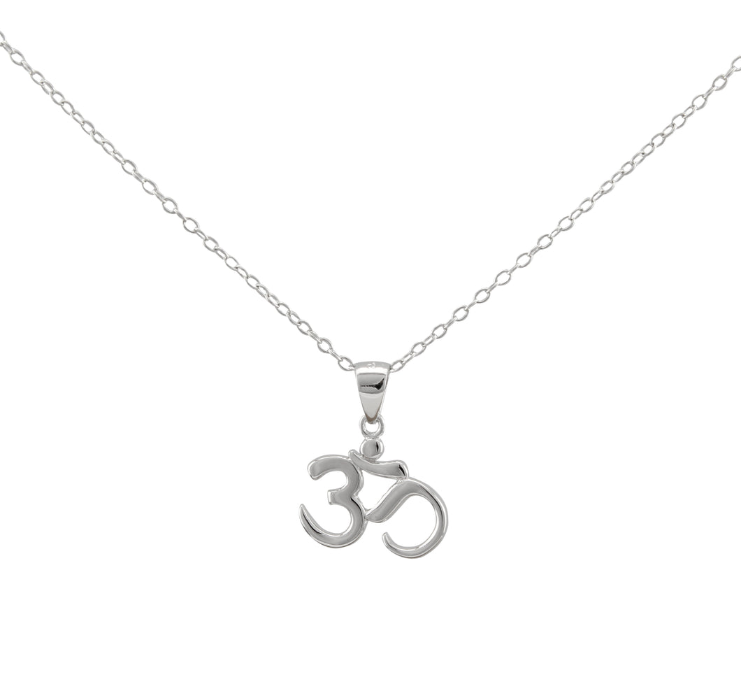 Om Namaste Necklace made of authentic 925 Sterling Silver