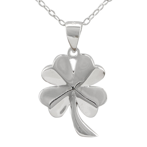 Shamrock Shiny Necklace made of authentic 925 Sterling Silver