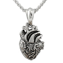 Anatomical Heart 3D Necklace made of Steel