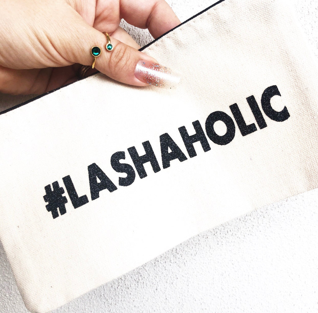 #Lashaholic Cosmetic Pouch