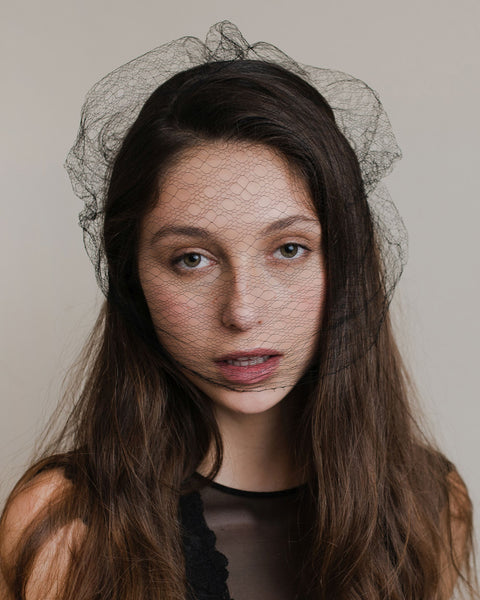 Black vintage french veil
