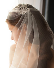 Juliet cap vintage bridal veil with soft tulle and delicate lace