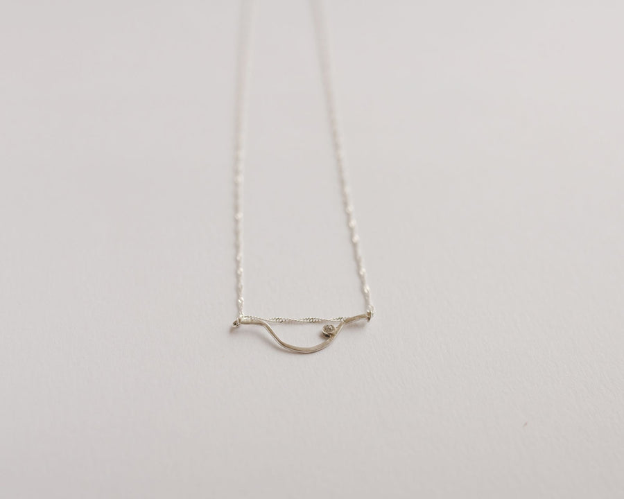 Minimalist feminine crystal necklace