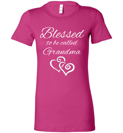 Blessed to be called Grandma Fitted Tee