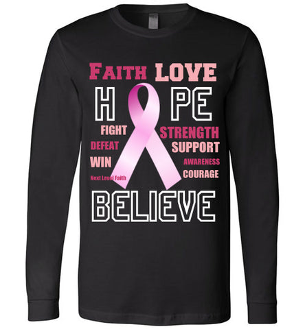 Faith Hope and Love Long Sleeved