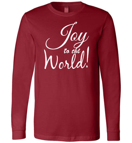 Joy to the world long sleeved tee