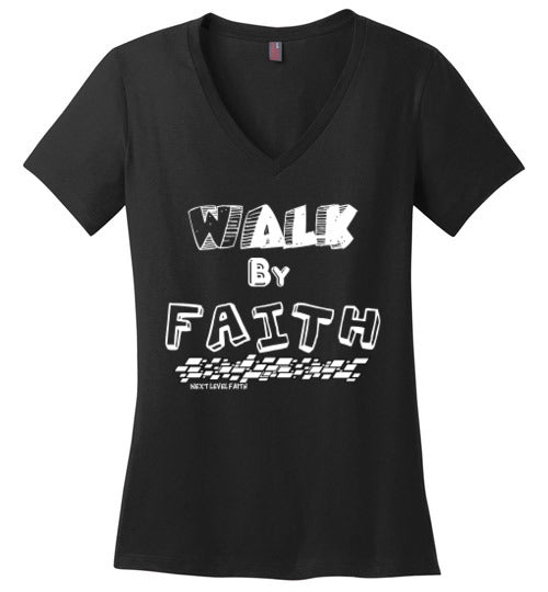 Walk By Faith Ladies V-Neck