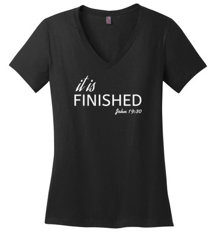 It is finished ladies V-neck