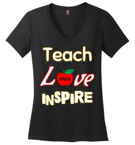 Teach Love Inspire Ladie V-Neck