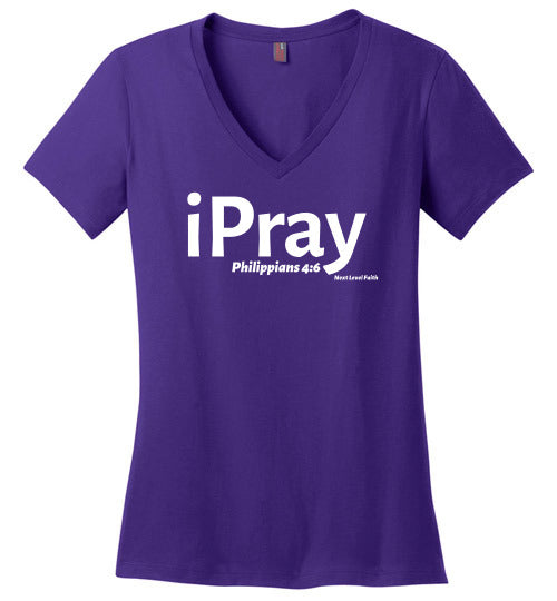 iPray Ladies V-Neck