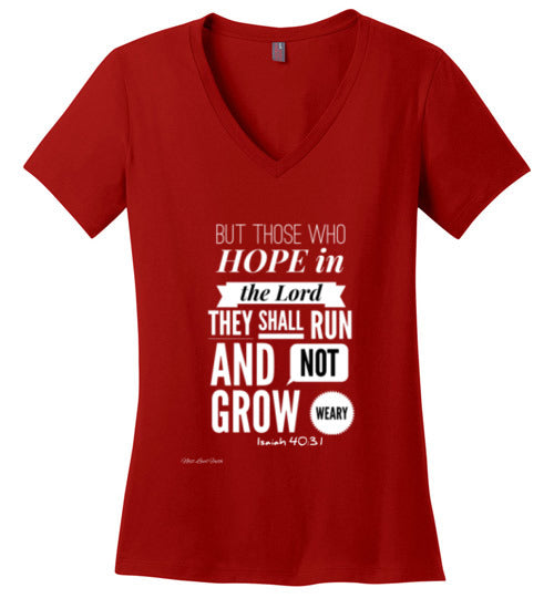 Isaiah 40 Hope Ladies V Neck