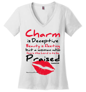 Charm and Beauty V-Neck