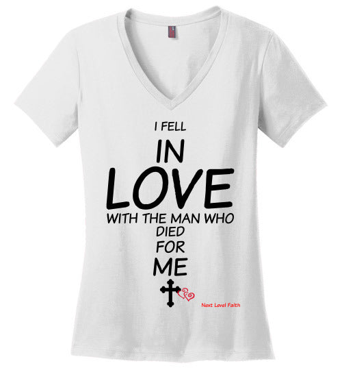 Falling in Love Ladies V neck