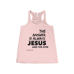 """The Answer"" Women's Flowy Racerback Tank"