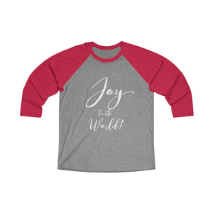 Joy to the World Unisex Tri-Blend 3/4 Raglan Tee