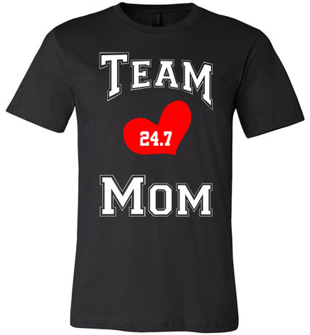 Team Mom Black and White