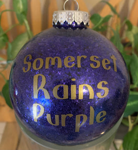 Somerset Rains Purple Christmas Ornament