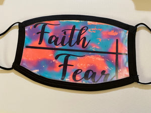 Faith Over Fear Face Mask