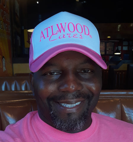 ATLWOOD Cancer Awareness Pink Logo Hat