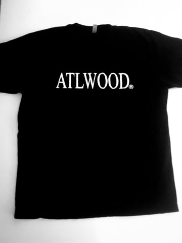 Unisex Glow In The Dark ATLWOOD  Black Tee