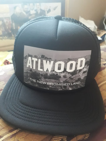 ATLWOOD Double Black Trucker Hat
