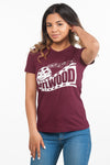Classic Fitted ATLWOOD Film Maroon Tee