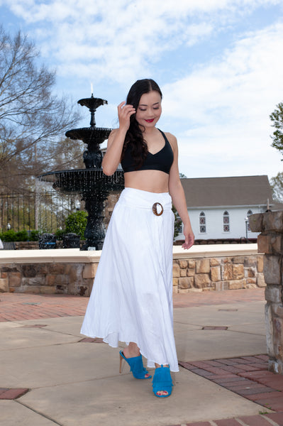 ATLWOOD White Wrap Skirt