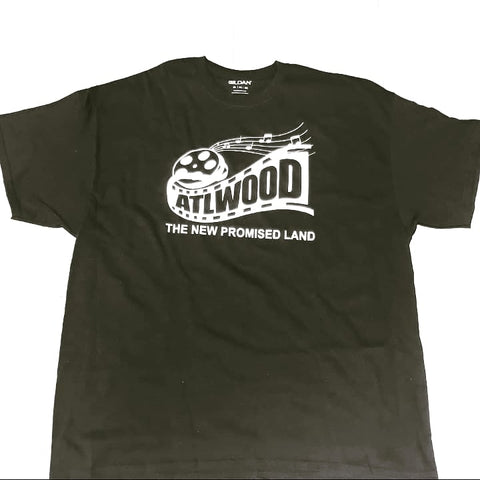 Unisex Glow In The Dark ATLWOOD Film Reel Black Tee