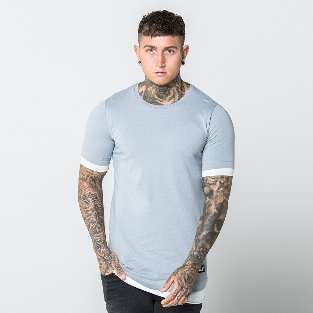 Level 1 Layered Tee in grey