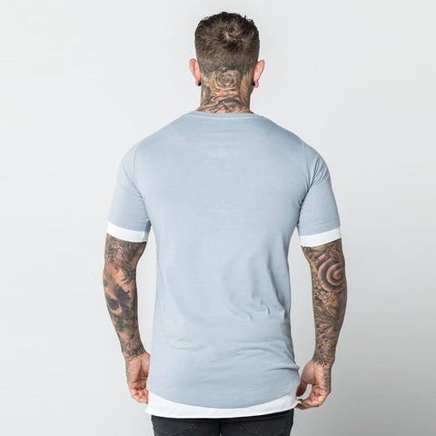 Level 1 Layered Tee in blue