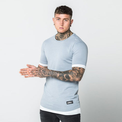 Level 1 Layered Tee in clay white
