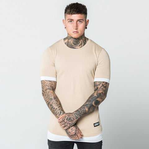 Level 1 Layered Tee in fawn