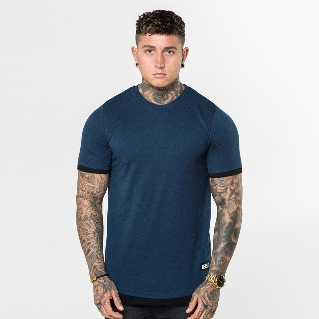 navy Level 1 Layered Tee