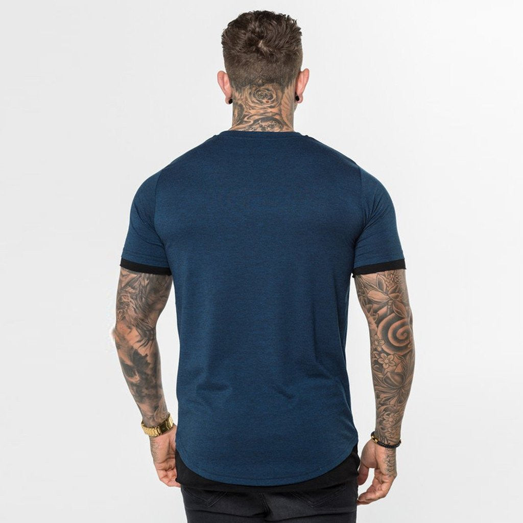 Level 1 Layered Tee in dark blue