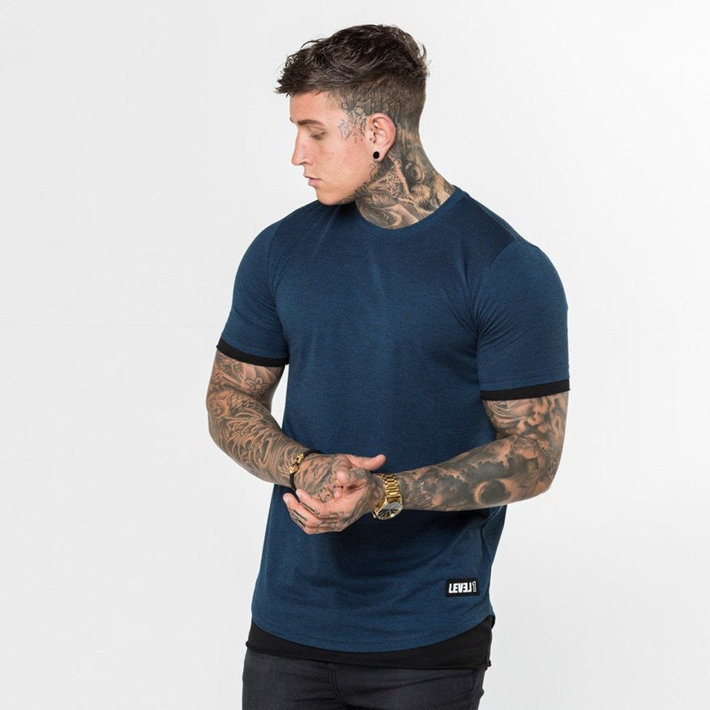 Level 1 Layered Tee in navy