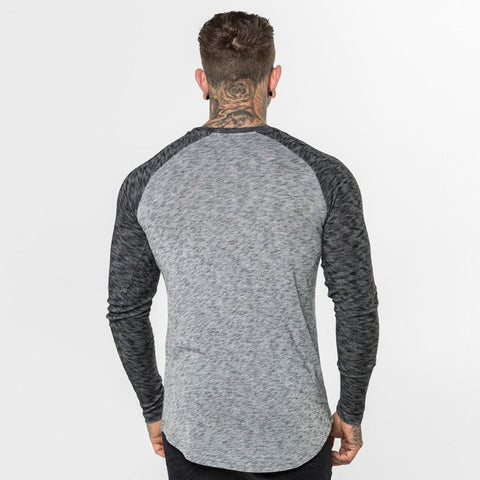 Level 1 Long Sleeve Raglan Tee in Grey