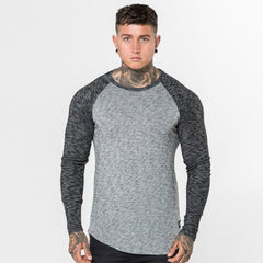 Grey Level 1 Long Sleeve Raglan Tee