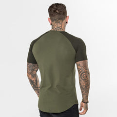 Level 1 Short Sleeve Raglan Tee in Khaki